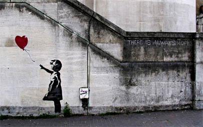Destrozada una obra de Banksy