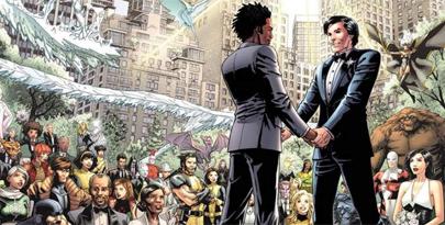 Boda gay entre superhéroes