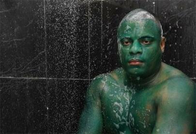 Imposible deshacerse del disfraz de Hulk