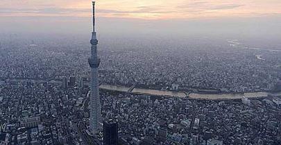 Tokio tiene la torre de televisión más alta del mundo
