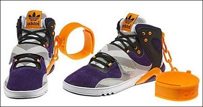 ¿Zapatillas deportivas con grilletes?