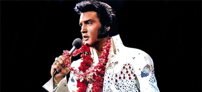 Elvis has entered the building