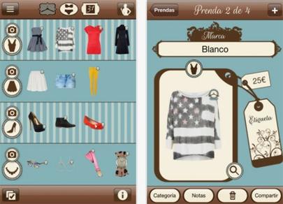 DressApp, aplicación de smartphone para clasificar tu vestuario