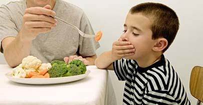 La mitad de los niños no comen verdura