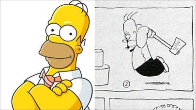 Homer Simpson era sueco y fue dibujado en 1920
