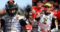 Lorenzo y Márquez, campeones en MotoGp y Moto2