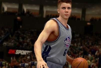 Justin Bieber juega al baloncesto en 'NBA 2K13'