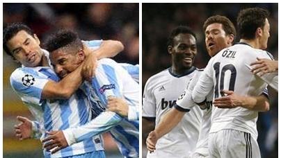 Málaga a Octavos, Real Madrid segundo de grupo