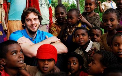 Pau Gasol lucha contra el hambre en África