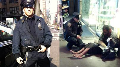 Nueva York descubre al policía buen samaritano