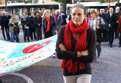 Estefanía de Mónaco se hace la prueba del sida