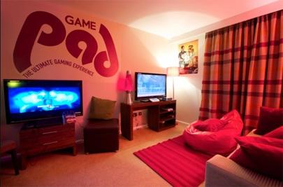 Una habitación de Hotel para jugones