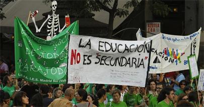 Arranca la huelga de 3 días de los estudiantes de secundaria