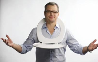 Matt Damon promueve el consumo responsable de agua