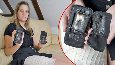 Joven herida tras explotarle su móvil en el bolsillo