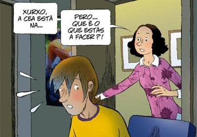 Un cómic para alertar a los jóvenes gallegos del mal uso de las redes sociales