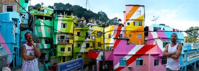 Arte para embellecer las favelas de Río
