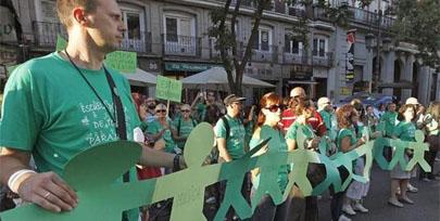 Huelga estudiantil en protesta por los recortes y la reforma educativa