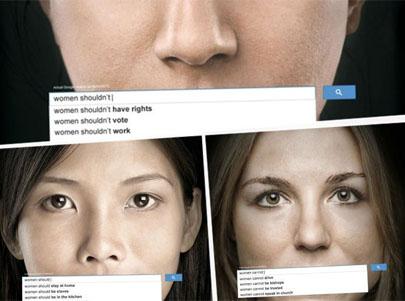 La ONU utiliza las búsquedas de Google en su campaña contra la discriminación a las mujeres