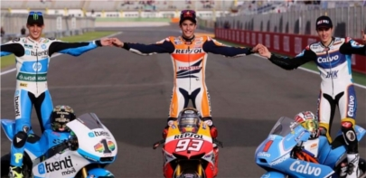 Trío de campeones del mundo españoles en motociclismo
