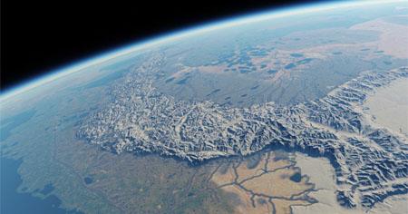 Recrean a escala planetaria la Tierra Media de Tolkien