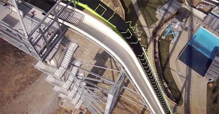 Cerca de inaugurarse el tobogán de agua más alto del mundo