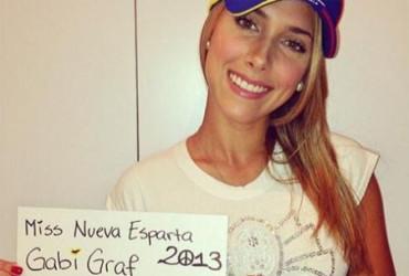 Misses venezolanas protestan contra la violencia en su país