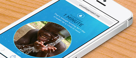 1 minuto sin móvil, 1 día de agua
