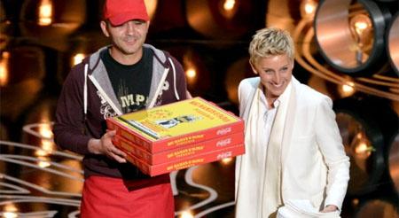 1.000 dólares de propina por llevar una pizza a los Oscar