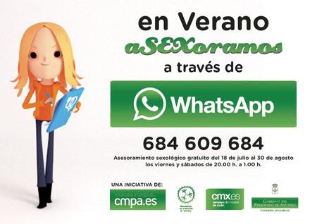"""""""En verano aSEXsoramos por WhatsApp"""""""