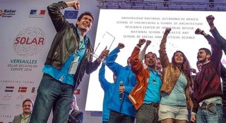 Alumnos de la UNAM consiguen el primer premio en el 'Solar decathlon Europe 2014'