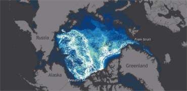 El deshielo del Ártico desde 1987 en un minuto