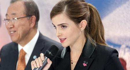 Emma Watson continúa con su lucha por la igualdad de género