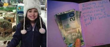 Esta niña ha vendido todos sus peluches para donar el dinero a un refugio de animales