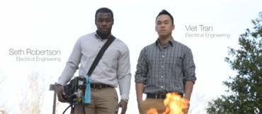 Dos universitarios crean un dispositivo que genera ondas sonoras para extinguir incendios