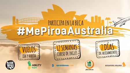 #MePiroaAustralia, beca de 6.000 euros para estudiar inglés