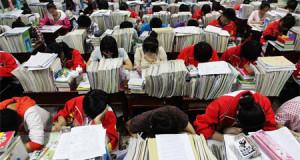 Drones evitan que los estudiantes chinos copien en los exámenes