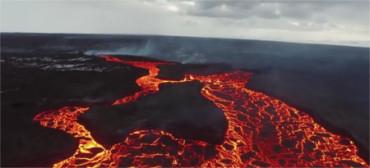 Nunca has visto así un río de lava
