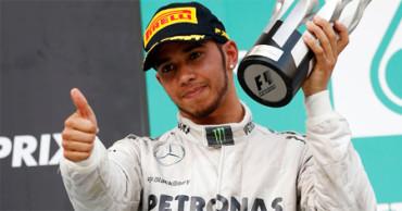 Lewis Hamilton, tricampeón del mundo de F1