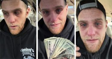 Una propina de 700 dólares provocó las lágrimas de este repartidor de pizza