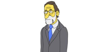 Los políticos españoles, al estilo de Los Simpson