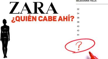 ¿Qué pasa cuando vas a Zara buscando una talla mayor a una 44?