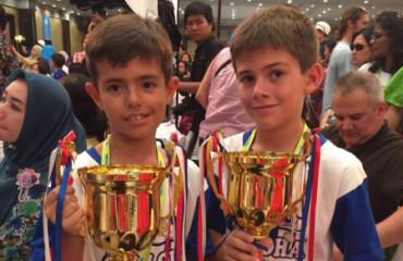 Estos niños son los reyes mundiales del cálculo con ábaco