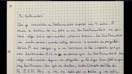La carta de un niño sobre su tartamudez que acumula miles de retuits
