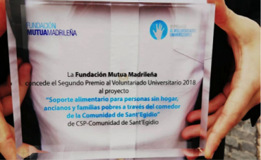 Premio 'Voluntariado universitario' a Jóvenes por la Paz de Madrid y Barcelona