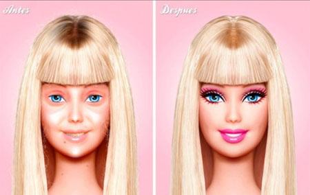 ¿Cómo sería la Barbie sin maquillaje?