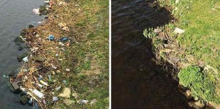 Limpia en cinco semanas un río lleno de basura